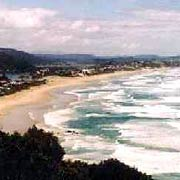 The beach at Wilderness, along the Garden Route