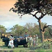 Sundowners on a safari drive